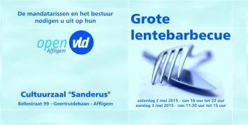 Flyer Lentebarbecue 2015