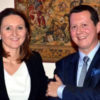 Lijsttrekker Tim Herzeel met nationaal voorzitter Gwendolyn Rutten